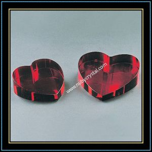 Heart Shaped Crystal Blank with Different Color pictures & photos