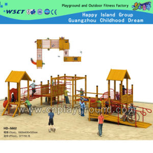 Hot Selling Solid Wood Outdoor Playground Equipment for Children (HD-5602) pictures & photos