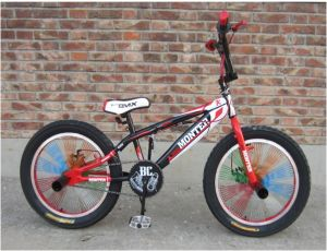 20 Inch Steel BMX Freestyle Bike Colored Spoke (YK-BMX-013)