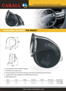 Fk-K80c Aapex La 2016 Alarm Car Speaker Powerful Magic Crisp Voice waterproof DC 12V 5A 118dB Safety Environment Auto Parts Snail Horns pictures & photos
