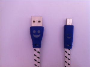 Nylon Fabric Braid Flalt Micro USB Cable pictures & photos