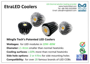 High Cooling Aluminum Extruded Heat Sink for LED Light pictures & photos