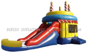 Inflatable Birthday Cake Combo Bouncer B3065 pictures & photos