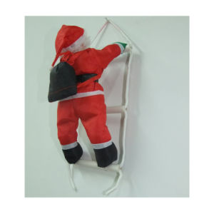 Hot Christmas Ornament Ladder Made of PP Cotton and PVC pictures & photos