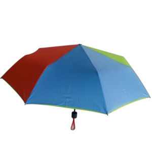 3 Fold Cheap Custom Print Promotional Umbrella for Gift pictures & photos