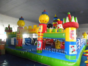 Inflatable Bouncy Castle Amusement Park with Obstacle and Slide Toy pictures & photos