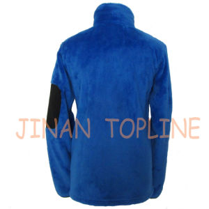 Women Dyed Cationic Polar Fleece Jacket with Sleeve Pocket pictures & photos