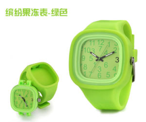 Customized Logo Interchangable Japan Movement Silicone Quartz Jelly Watch pictures & photos