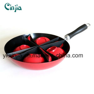 Aluminum Carbon Steel Chinese Wok with Bowl and Spoon pictures & photos