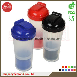 600ml Big Protein Shaker Bottle with Compartments (SB6002) pictures & photos