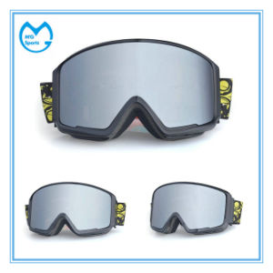 PC Mirrored Skiing Equipment Snowboarding Goggles Helmet Compatibility pictures & photos