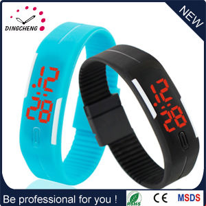 New Style Fashion Digital Silicone LED Watch Adjustable Strap Watches (DC-584) pictures & photos