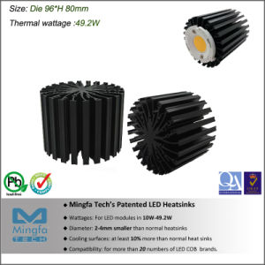 Aluminum LED Heat Sink for Ge Cobs (EtraLED-GE-9680)
