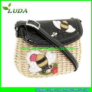 Luda 2015 New Fashioned Straw Bag Handmade Cornhusk Straw Bags