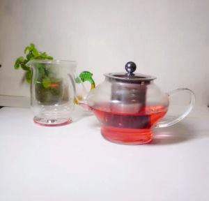 European Import Fashion Design Borosilicate Glass Tea Pot with Filter 800ml pictures & photos