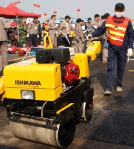 Diesel Engine Vibratory Walk Behind Road Roller pictures & photos