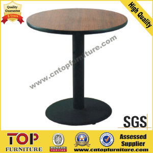 Round Iron Base Plywood Coffee Table pictures & photos