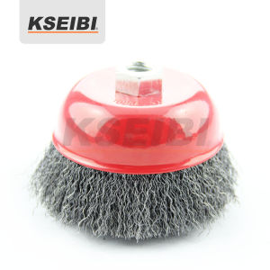 Hot Sales Standard Kseibi Crimped Cup Wire Brush with Nut pictures & photos
