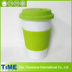 Ceramic Coffee Mug With Silicon Lid and Band(TM010610) pictures & photos