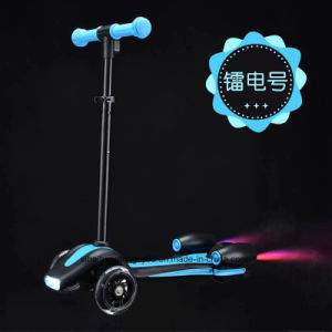 Sh-Bw002 Rocket Mositure spray 3 Wheels Kick Scooter Skateboards with Adjustable T-Bar Handle pictures & photos