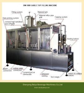 Fresh Milk Semi Automatic Gable Top Carton Filling Machine pictures & photos