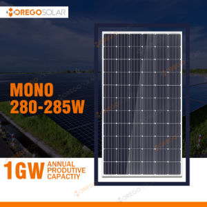Morego 280W 285W Mono Solar Panel for Roof Solar Power System pictures & photos