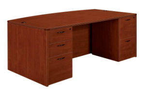 Modern High Quality MFC Board Office Furniture Bow Front Desk Executive Table Executive Desk pictures & photos