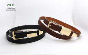 Gold Buckle Landy′s Fashion PU Belt (KY5203) pictures & photos