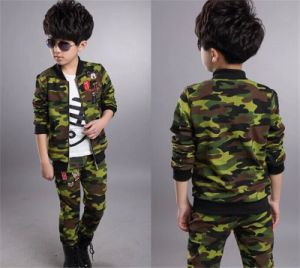 Kid′s Camouflage Color Casual Baseball Sports Suit in Spring pictures & photos