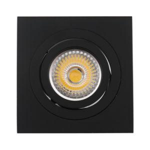 Lathe Aluminum GU10 MR16 Square Recessed Tilt Downlight (LT2303B) pictures & photos