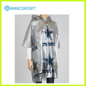 Full Printing Disposable PE Rain Poncho (RPE-180) pictures & photos