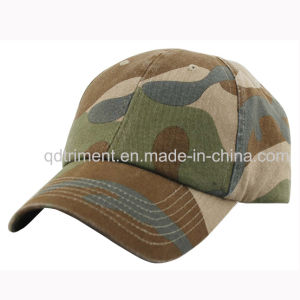 Washed Green Camo Cotton Twill Sport Baseball Cap (TMB080) pictures & photos