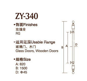 High Quality Rose Gold Color Door Handle (ZY-340) pictures & photos