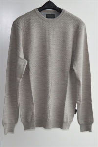 Men Pure Color Round Neck Knit Pullover Sweater pictures & photos
