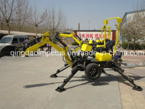 Self Propelled Powered Towable Backhoe with 22HP Engine pictures & photos