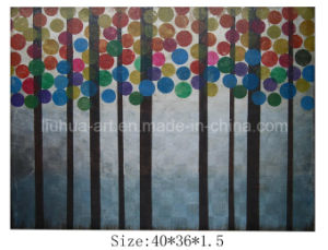 Latest Landscape Abstract Wood Oil Painting on Canvas for Sale (LH-700539) pictures & photos