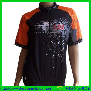 Sublimation Printing Cycling Shirts with 3 Back Pockets pictures & photos