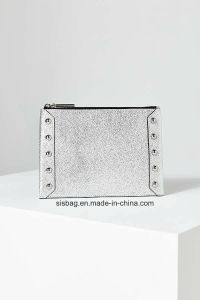 Fashionable Silver Color Clutch Bag Women PU Pouch pictures & photos