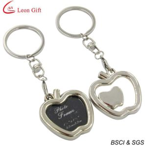 Top Sale Metal Apple Shape Frame Keychain for Promotion Gift (LM1764) pictures & photos