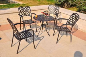 Outdoor Patio Furniture Lightweight Aluminum Camping Garden Table Chairs pictures & photos