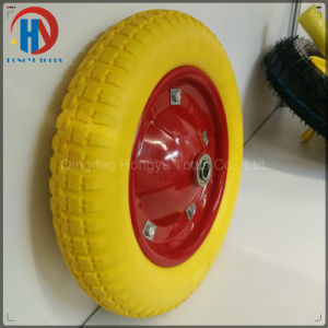 "Metal Rim with Bearings 16"" Solid PU Foam Wheel pictures & photos"