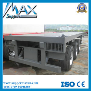 40f Flatbed Trailer with German Style Suspension pictures & photos