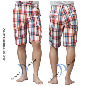 China 2014 Men′s Plaid Leisure Beach Cargo Shorts Pants (PS1228 ...