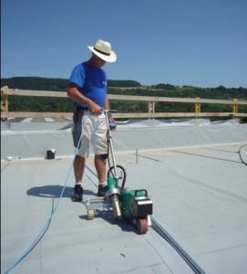 Hot Gas Applied White Tpo Membrane for Flat Roofing pictures & photos