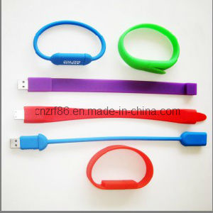 Professional Silk Screen Printing Silicone Wristband with USB (SUW-003) pictures & photos