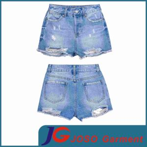 Women′s Denim Flared Leg Shorts (JC6044) pictures & photos