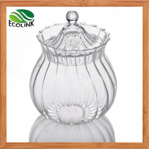 Clear Crystal Glass Jar with Lid for Candy or Sugar pictures & photos