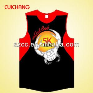 Singelt, Tank Top, Wholesale Polyester Heat Transfer Custom Design Gym Singlets Bx-043 pictures & photos