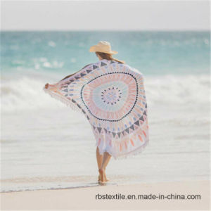 Pineapple Design Round Printed Beach Towel with High Quality pictures & photos