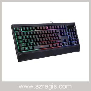 Colorful Injection Molding Backlit Wired Game Keyboard pictures & photos